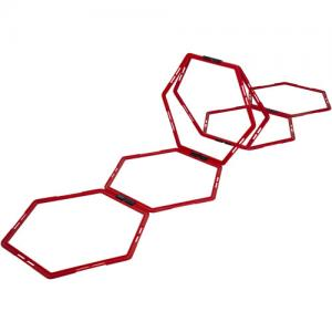 HEXAGON AGILITY GRID RED 6PCS
